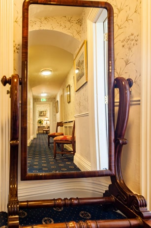 mirror at Blarney Castle Hotel